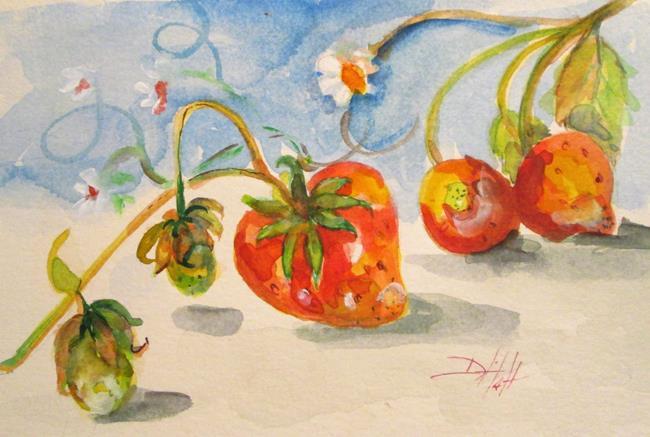 Art: Strawberries on the Vine by Artist Delilah Smith