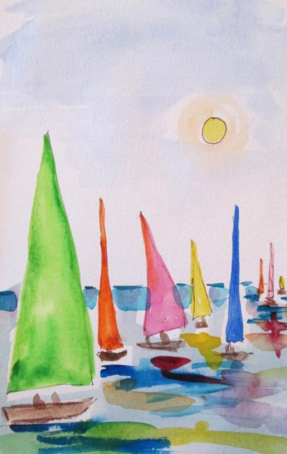 Art: Sailboats No. 20 by Artist Delilah Smith
