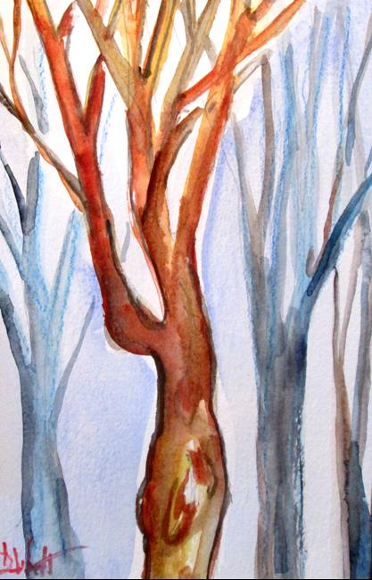 Art: Woodland by Artist Delilah Smith
