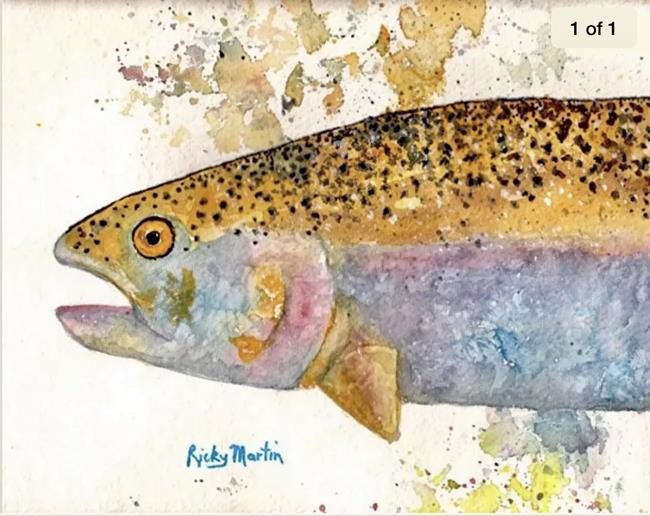 Art: Rainbow Trout - sold by Artist Ulrike 'Ricky' Martin