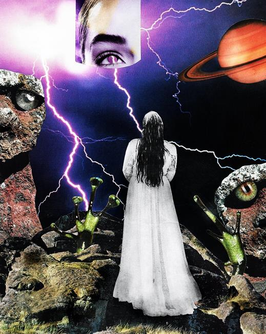 Art: My Secret Necropolis by Artist Vicky Helms