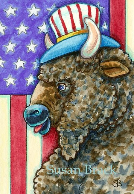 Art: ALL AMERICAN BISON by Artist Susan Brack