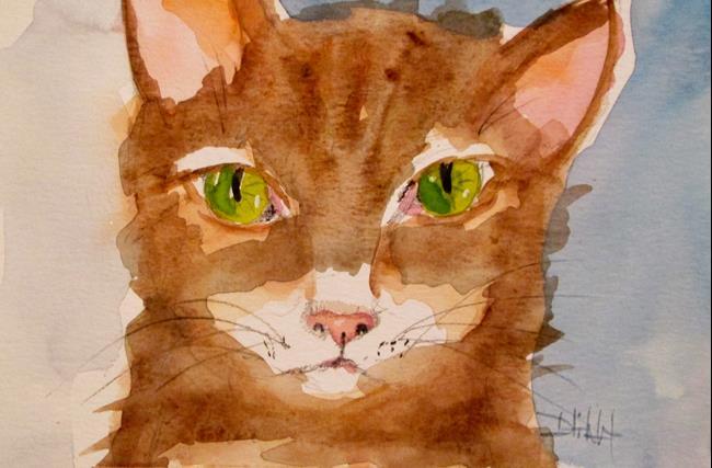 Art: Green Eyed Cat by Artist Delilah Smith