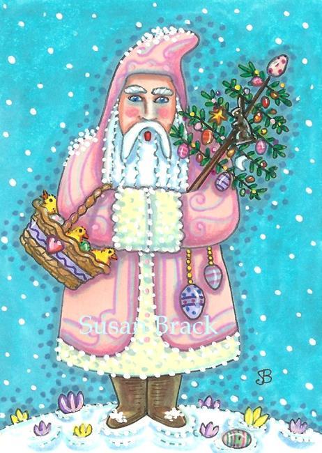 Art: PINK EASTER BELSNICKLE Holiday by Artist Susan Brack