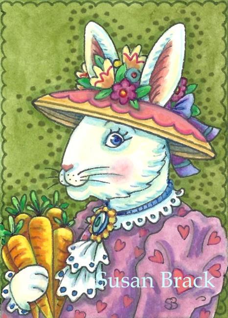 Art: MRS. EASTER BUNNY by Artist Susan Brack