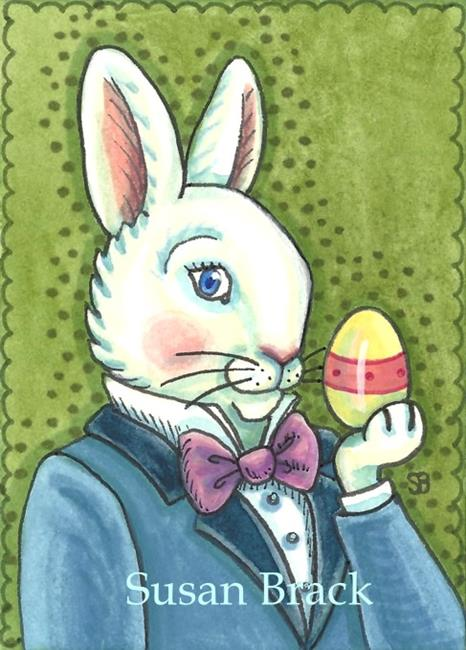 Art: MISTER EASTER BUNNY by Artist Susan Brack