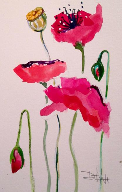 Art: Oriental Poppies No. 3 by Artist Delilah Smith