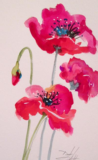 Art: Oriental Poppies No. 4 by Artist Delilah Smith