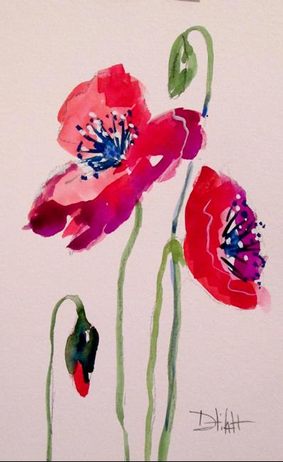 Art: Oriental  Poppies No. 5 by Artist Delilah Smith