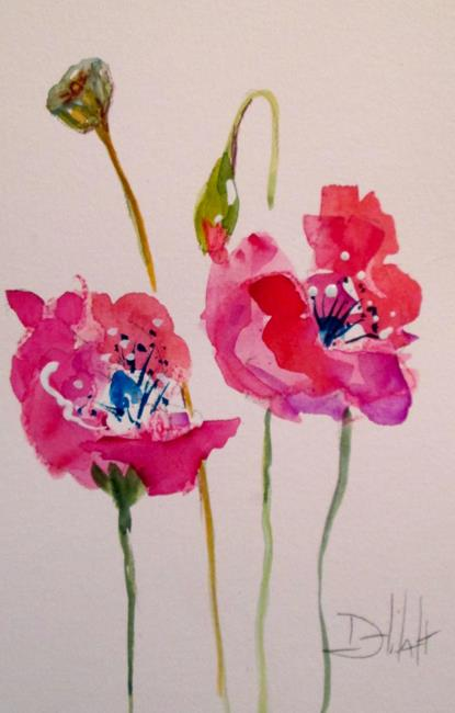 Art: Oriental Poppies No. 6 by Artist Delilah Smith