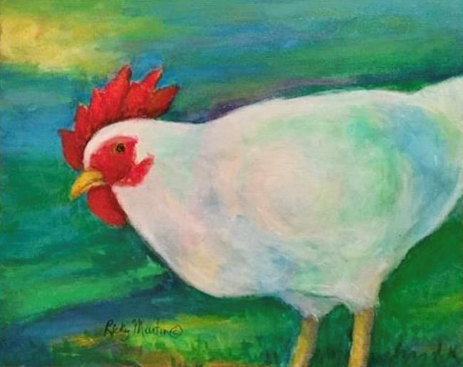 Art: Chicken - sold by Artist Ulrike 'Ricky' Martin
