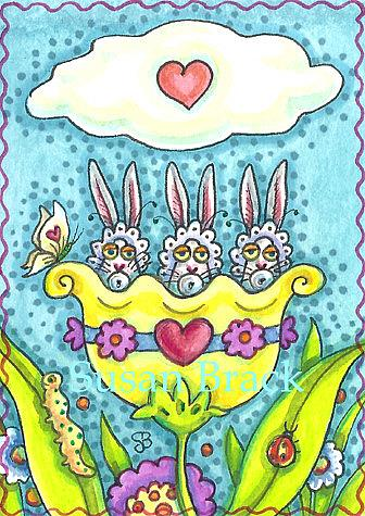 Art: FLUTTERBUN BABES by Artist Susan Brack