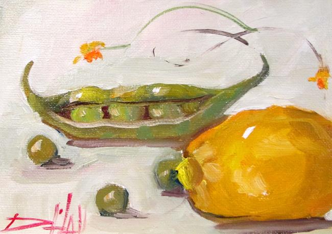Art: Lemon and Peas by Artist Delilah Smith