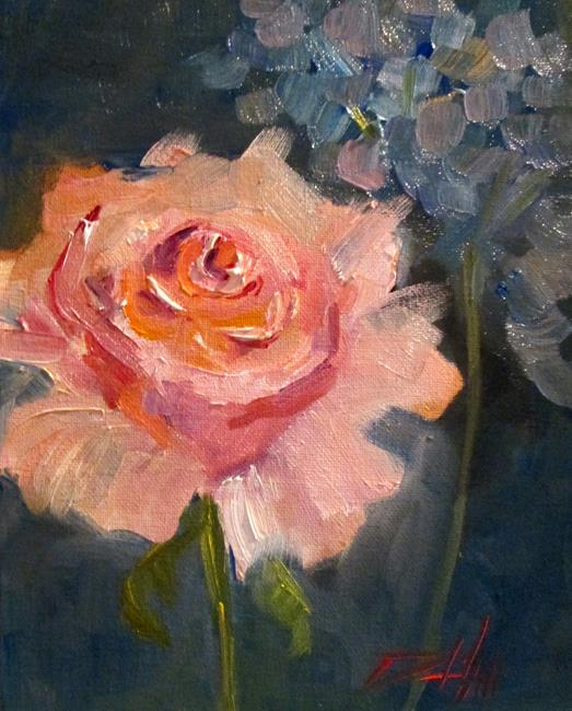 Art: Pink Rose No. 11 by Artist Delilah Smith
