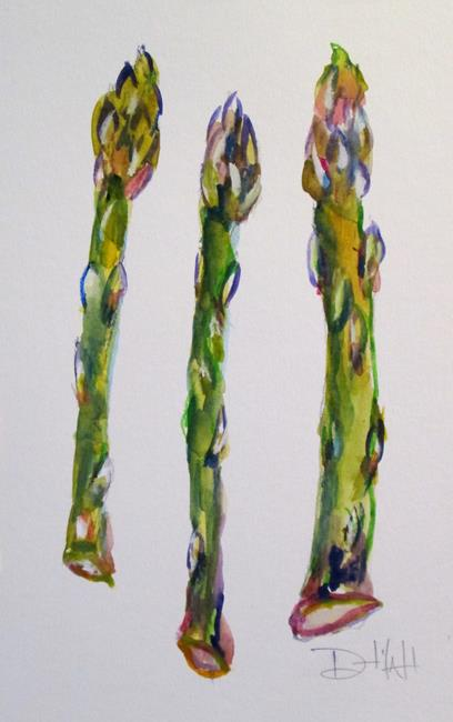 Art: Vegetable No. 2, Asparagus by Artist Delilah Smith