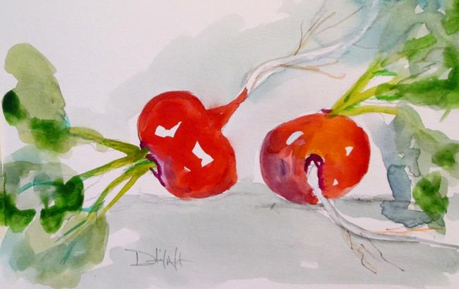 Art: Vegetable No. 3,Radish by Artist Delilah Smith