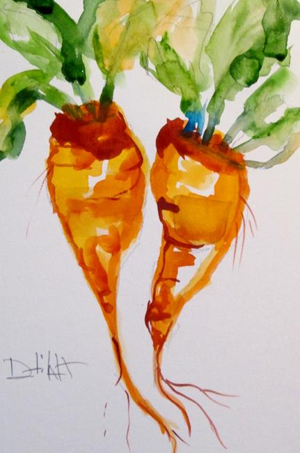 Art: Vegetable No. 4, Carrots by Artist Delilah Smith