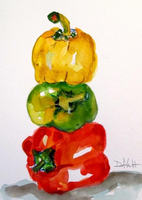 Art: Vegetable 6, Peppers by Artist Delilah Smith
