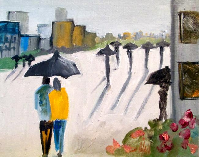 Art: Urban Umbrellas by Artist Delilah Smith
