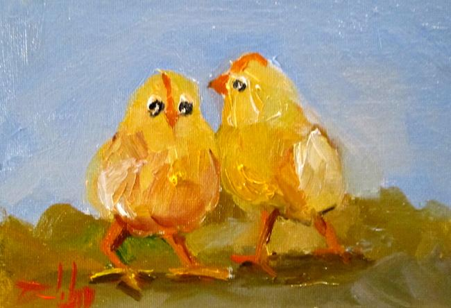 Art: Two Chicks by Artist Delilah Smith
