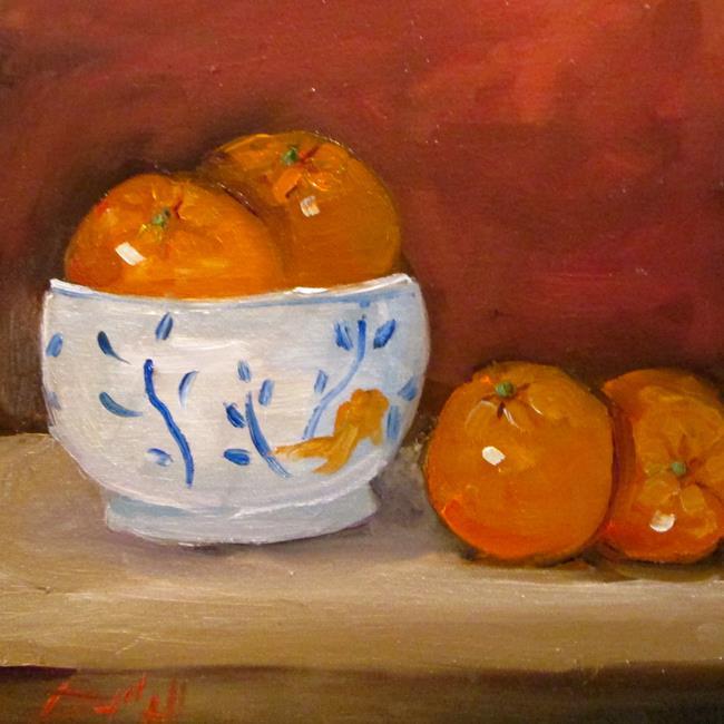 Art: Bowl of Oranges by Artist Delilah Smith