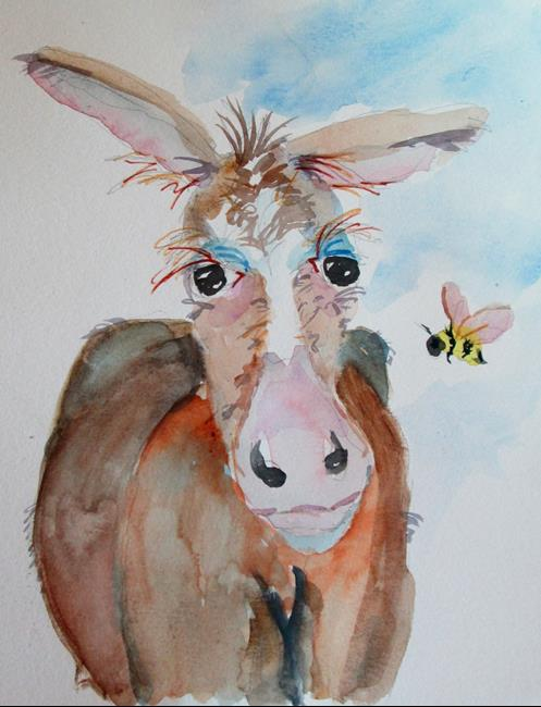 Art: Donkey and Bee by Artist Delilah Smith