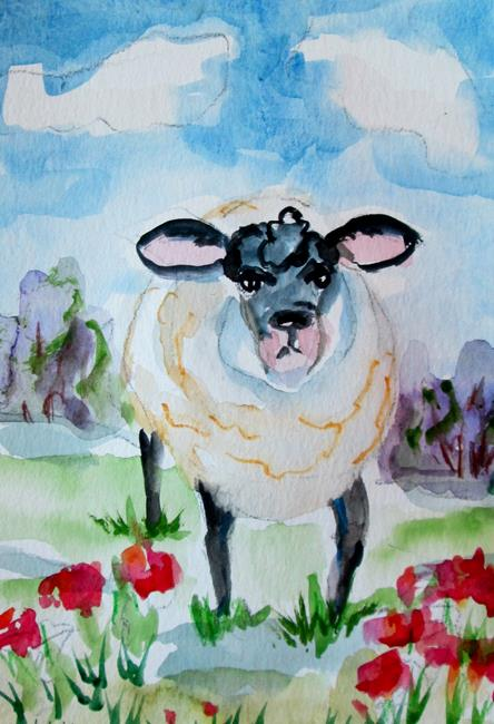 Art: Sheep No. 1 by Artist Delilah Smith