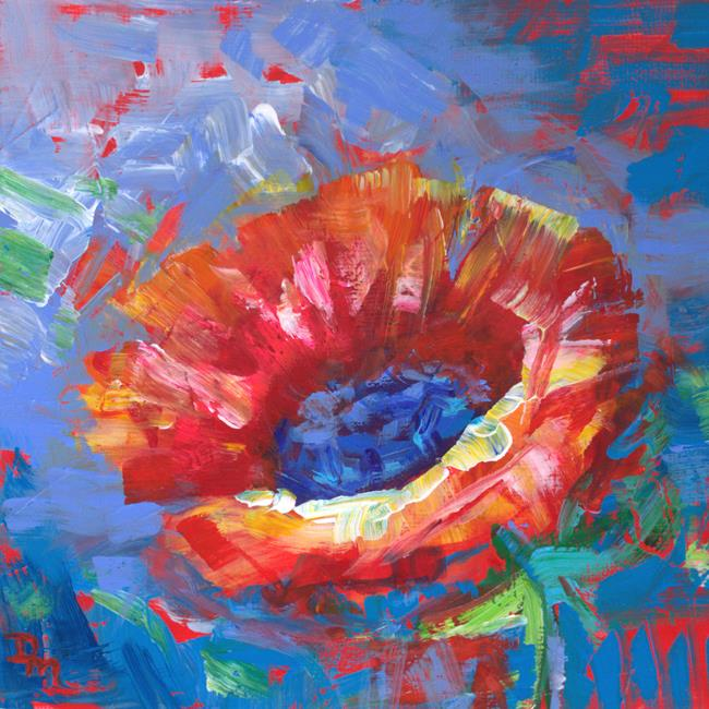 Art: Dancing under Sunbeams - Theory of the Poppy series (SOLD) by Artist Dana Marie