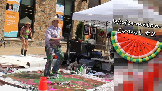 Art: WatermelonCrawl #2 Video stilll by Artist Anthony Allegro