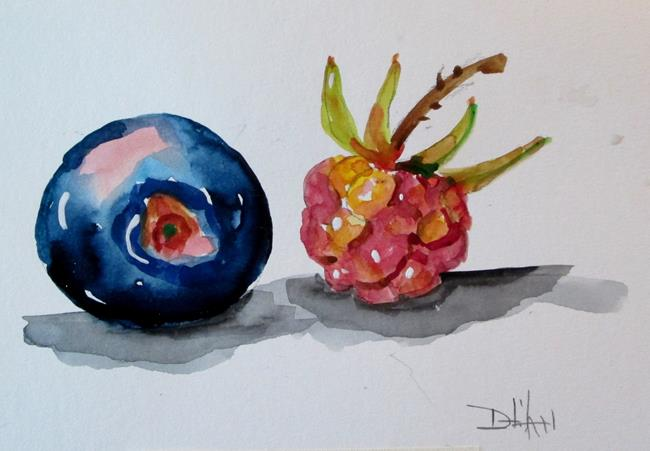 Art: Blueberries No. 1 by Artist Delilah Smith