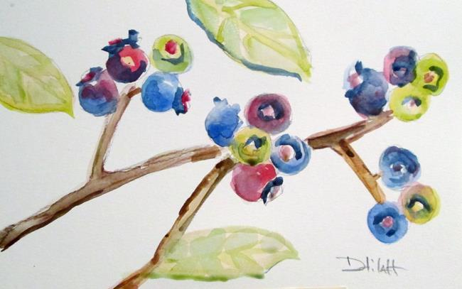 Art: Blueberries No. 2 by Artist Delilah Smith
