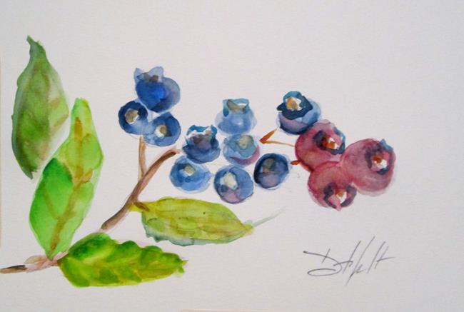 Art: Blueberries No. 6 by Artist Delilah Smith