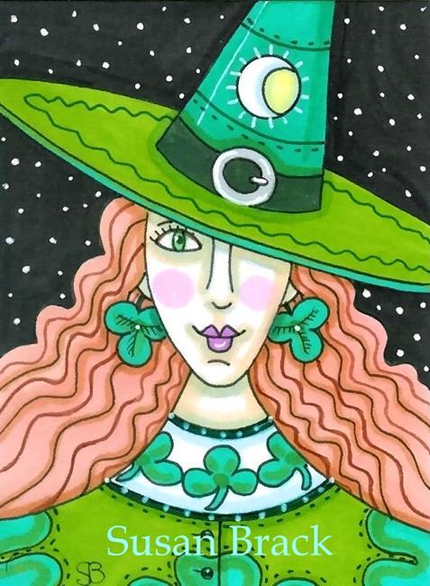 Art: SHAMROCK WITCH by Artist Susan Brack