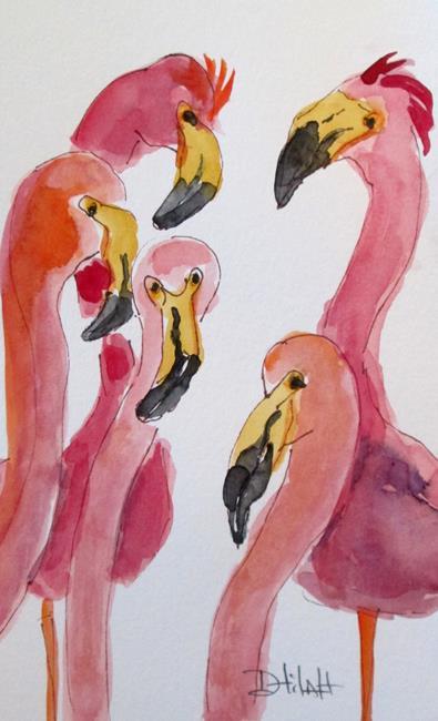 Art: Flamingo No 31 by Artist Delilah Smith