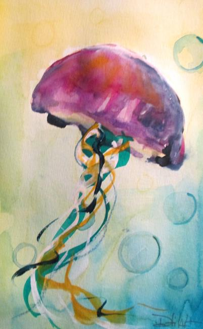 Art: Jellyfish No. 13 by Artist Delilah Smith