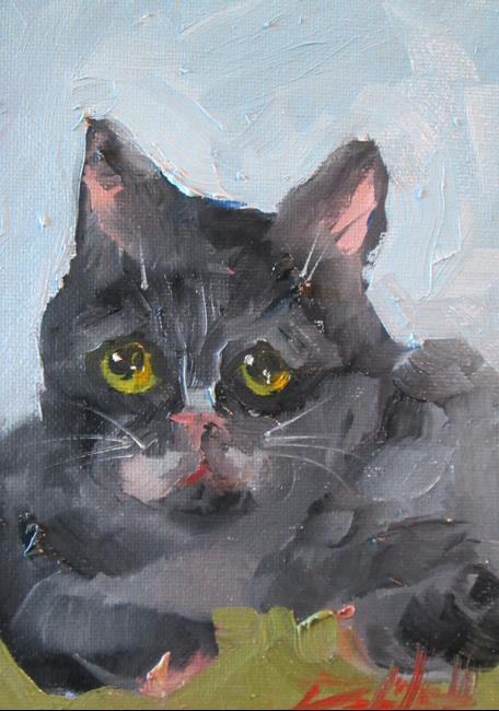 Art: Black Cat No 4 by Artist Delilah Smith