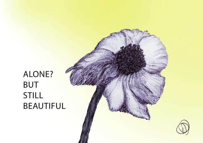 Art: flower by Artist Dawn Barker
