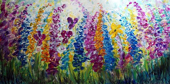 Art: LUPINE Meadow Wild Flowers by Artist LUIZA VIZOLI