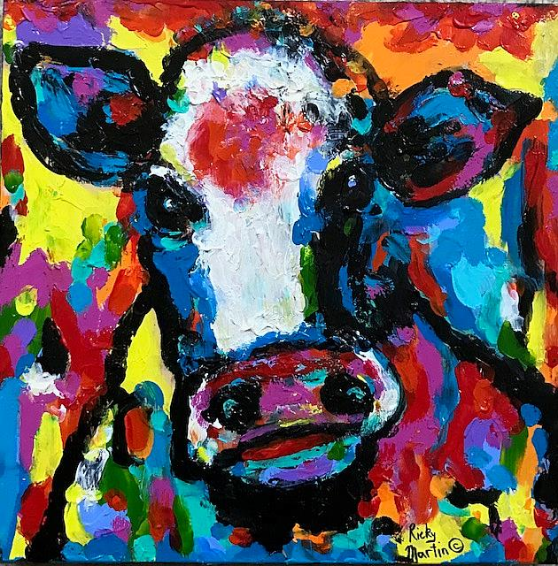 Art: Cow Impasto by Artist Ulrike 'Ricky' Martin