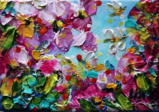 Art: Spring Blossom, Bees and Flowers by Artist LUIZA VIZOLI