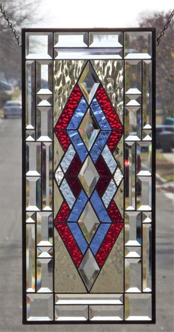 Art: Red -Blue Dimond by Artist Chris Gleim