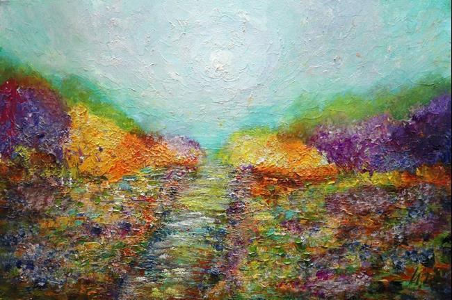 Art: Colorful Gardens by Artist LUIZA VIZOLI