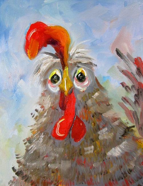 Art: Chicken No. 62 by Artist Delilah Smith