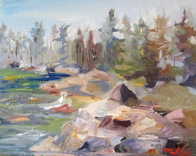 Art: Rocky River by Artist Delilah Smith