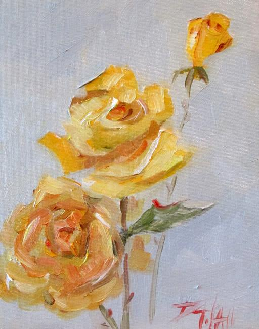 Art: Yellow Roses by Artist Delilah Smith