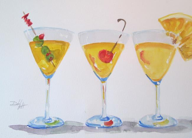 Art: Martinis No. 3 by Artist Delilah Smith
