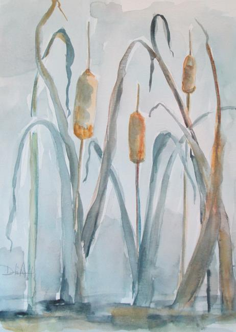 Art: Cattails No. 2 by Artist Delilah Smith