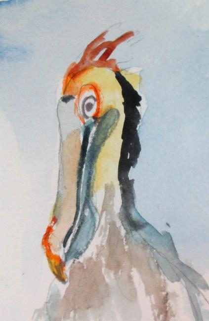 Art: Pelican by Artist Delilah Smith