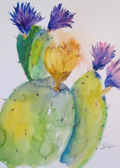 Art: Cactus No. 15 by Artist Delilah Smith