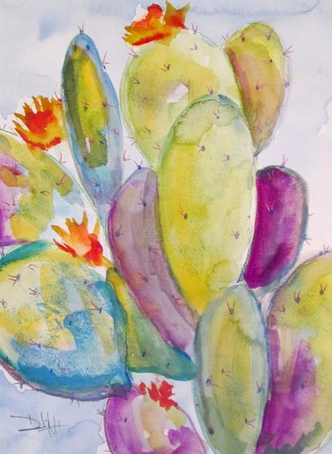 Art: Cactus No. 17 by Artist Delilah Smith